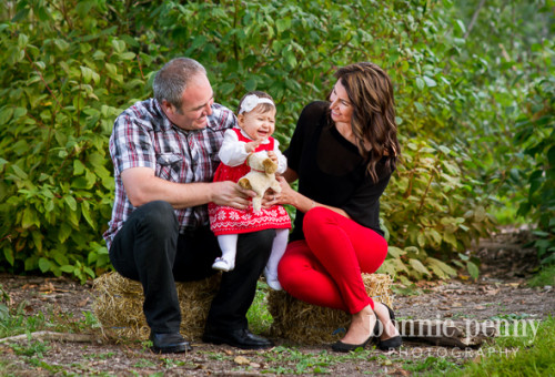 Fall Family Session - A Cute Family of Three